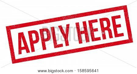 Apply Here Rubber Stamp