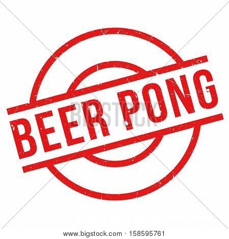 Beer Pong Rubber Stamp