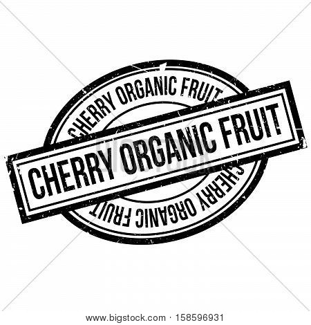 Cherry Organic Fruit Rubber Stamp