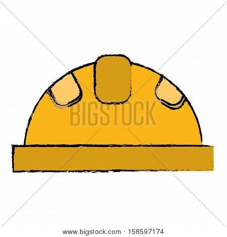 helmet protective head construction security drawing vector illustration eps 10
