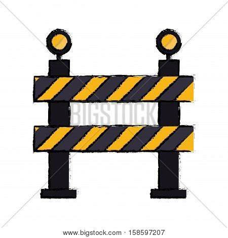 barrier restricted street stripe design drawing vector illustration eps 10