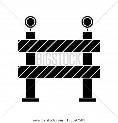 barrier restricted street stripe design pictogram vector illustration eps 10
