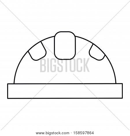 helmet protective head construction security outline vector illustration eps 10