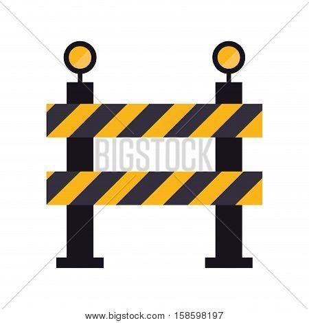 barrier restricted street stripe design vector illustration eps 10