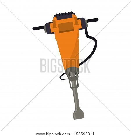 jackhammer construction tool design vector illustration eps 10
