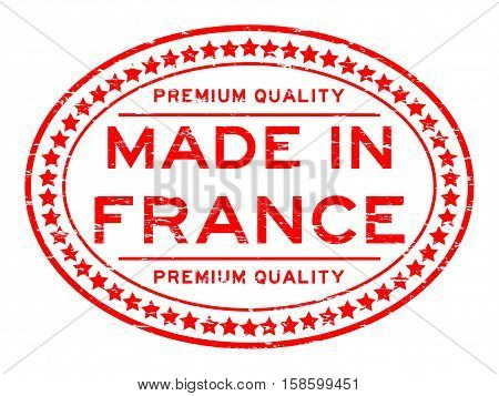 Grunge red premium quality made in France rubber stamp