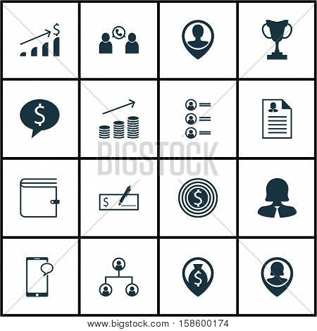 Set Of Human Resources Icons On Pin Employee, Messaging And Wallet Topics. Editable Vector Illustration. Includes Job, Structure, Cash And More Vector Icons.