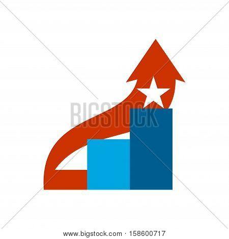 Career Ladder Logo. Steps Sign. Climbing Emblem.