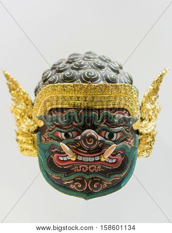 actor's mask in Thailand on white background.