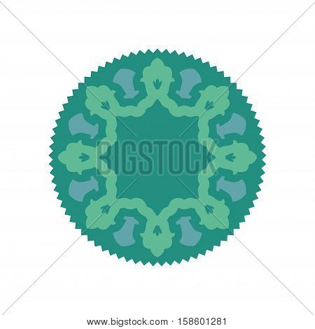 Halal Islamic Template Symbol. East Ornament For Emblem. Muslim Sign For Food