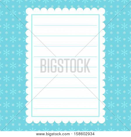Blue Christmas background with snowflakes. Vector card.