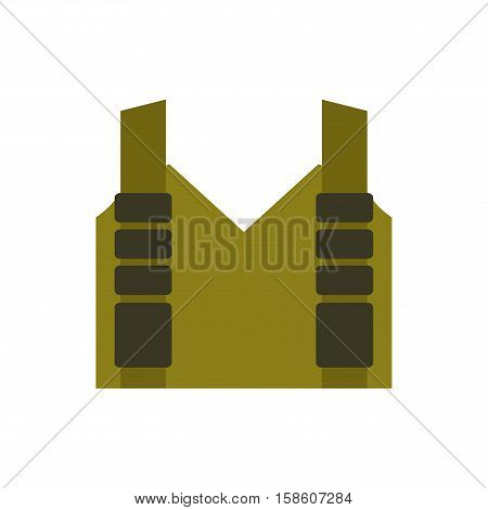Bulletproof Vest Isolated. Protective Uniform Military. Police Clothing