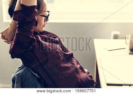Fashion Design Resting Stretching