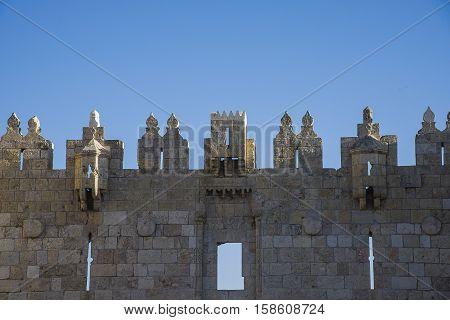 Damascus gate of old city of Jerusalem