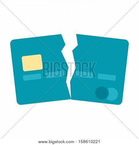 Debt free concept with broken credit card