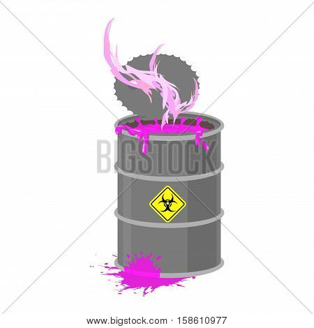 Radioactive Waste Barrel. Toxic Refuse Keg. Poisonous Liquid Cask. Chemical Garbage Emissions. Envir