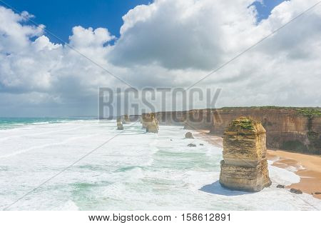 Twelve Apostles, natural landmark near the Great Ocean Road. Victoria, Australia