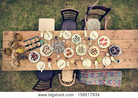 Table Setting Food Celebration Party