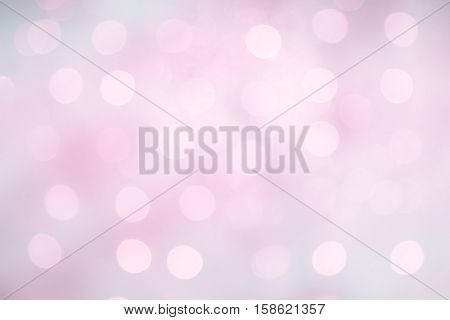 Delicate Beautiful Abstract Blurred Lilac Pink Blue White Background with Bokeh circles. Soft Pastel Texture with particles. Wedding backdrop