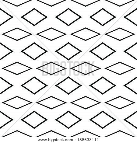 Vector decorative seamless pattern. Abstract geometric background.