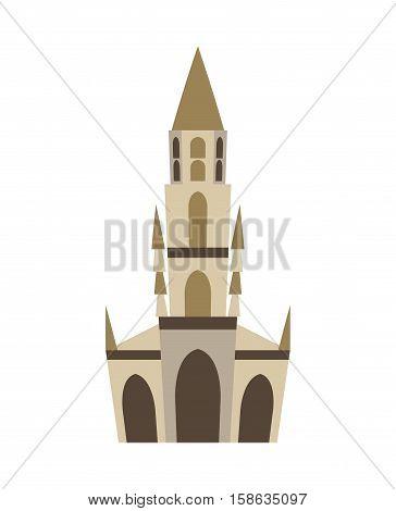 Bern Minster Isolated. Historic Architecture Landmark Of Switzerland