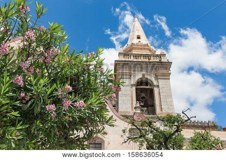 San Giuseppe Church along Corso Umberto inTaormina at Sicilian Island