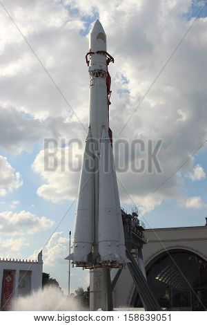 Russia, Moscow 25 May 2016, The Rocket Vostok at the VDNKh