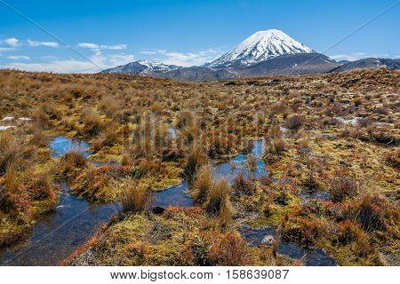 Mount Ruapehu Landscape Tongariro National Park New Zealand