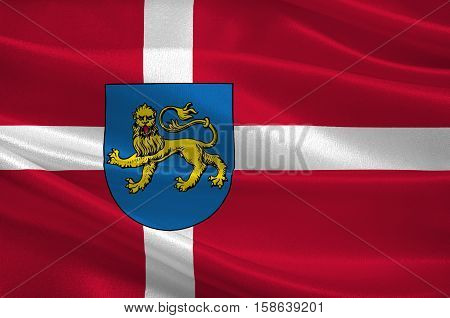 Flag of Varde in Southern Denmark Region. 3d illustration
