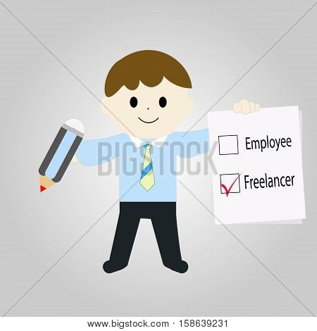 choice of working as a freelancer instead of employee