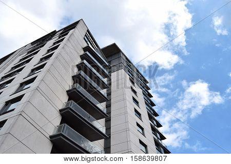 The new building in Birmingham city center