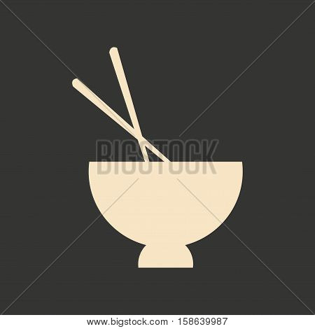 Flat with shadow icon and mobile application miso soup
