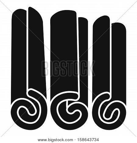 Cinnamon sticks icon. Simple illustration of cinnamon sticks vector icon for web