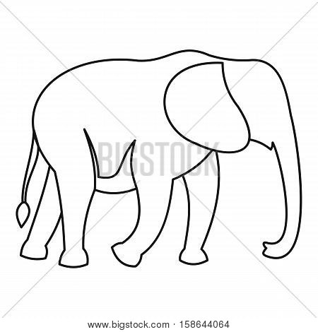 Elephant icon. Outline illustration of elephant vector icon for web