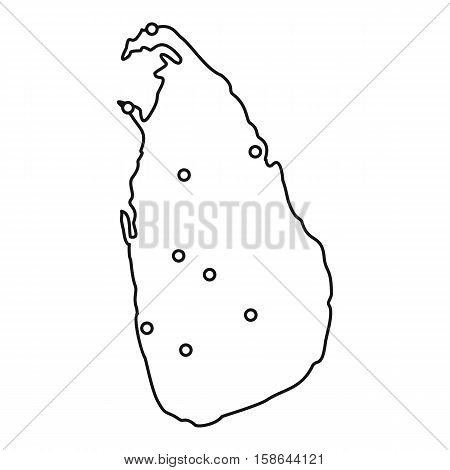 Sri Lanka map icon. Outline illustration of Sri Lanka map vector icon for web