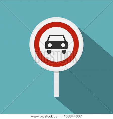 Movement of motor vehicles is forbidden icon. Flat illustration of movement of motor vehicles is forbidden vector icon for web isolated on baby blue background