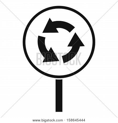 Circular motion road sign icon. Simple illustration of circular motion road sign vector icon for web