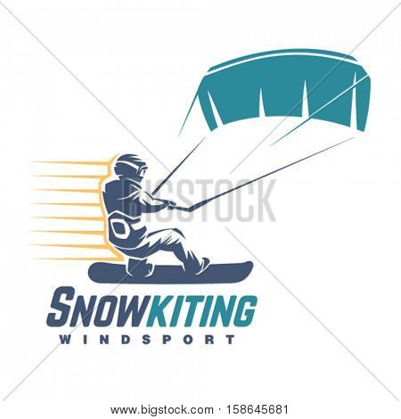 Snowkiting. Sport emblem