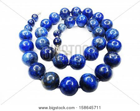 semigem blue lazurite necklace with bright crystals jewellery