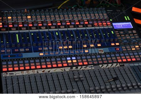 equipment for sound mixer control of high-quality audio