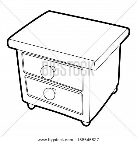 Nightstand icon. Isometric 3d illustration of nightstand vector icon for web