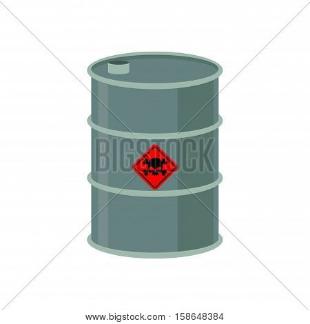 Toxic Waste Barrel. Radioactive Industry Garbage Emissions. Chemical Refuse Keg. Poisonous Liquid Ca