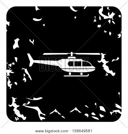 Helicopter icon. Grunge illustration of helicopter vector icon for web design