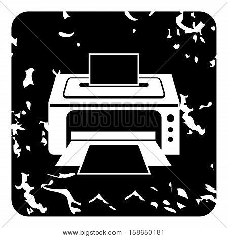 Photo printer icon. Grunge illustration of photo printer vector icon for web design