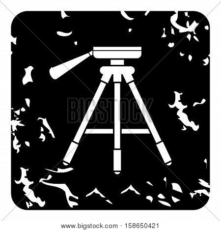 Tripod icon. Grunge illustration of tripod vector icon for web design