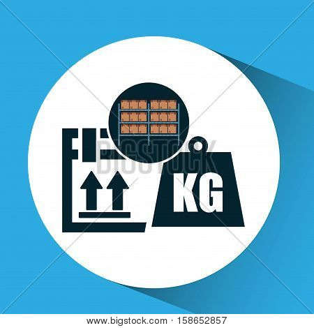warehouse box weight icon design vector illustration eps 10
