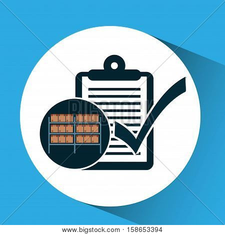 warehouse box check list icon vector illustration eps 10