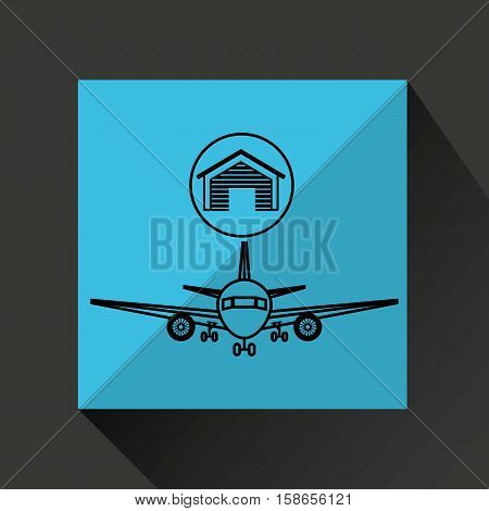 warehouse building transport aireal vector illustration eps 10