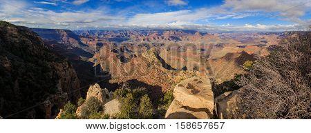 Beautiful Landscape Of Grand Canyon, South Rim, Arizona, United States