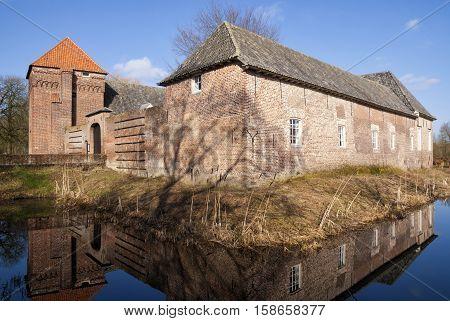 Castle Tongelaar near Mill in the Dutch province Noord-Brabant